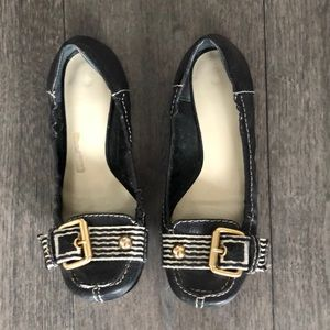 Nine West black mocasines shoes for woman's